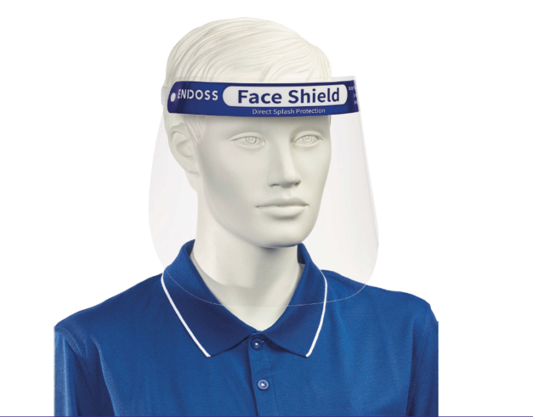 Endoss Face Shield PPE - front